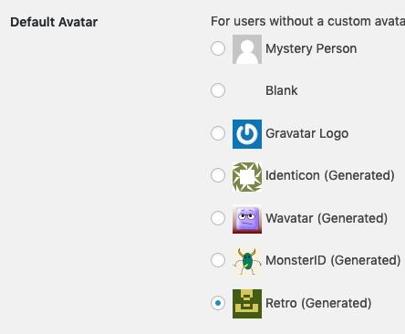 WordPress being misleading about Gravatar.