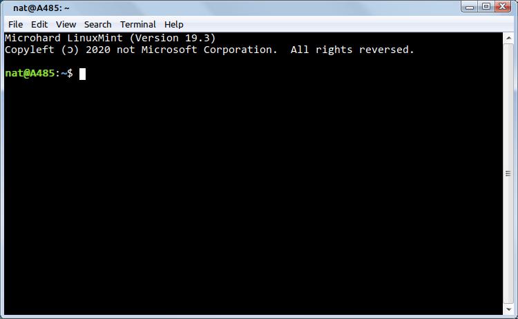 Linux Mint Terminal looking like Windows 7 Terminal