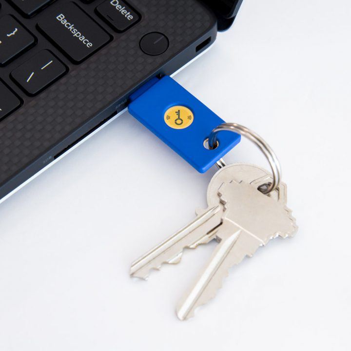 Yubico Security Key NFC in USB-A Port