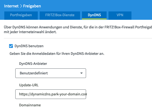 FRITZ!Box DynDNS with Namecheap