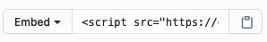 GitHub Gist Embed