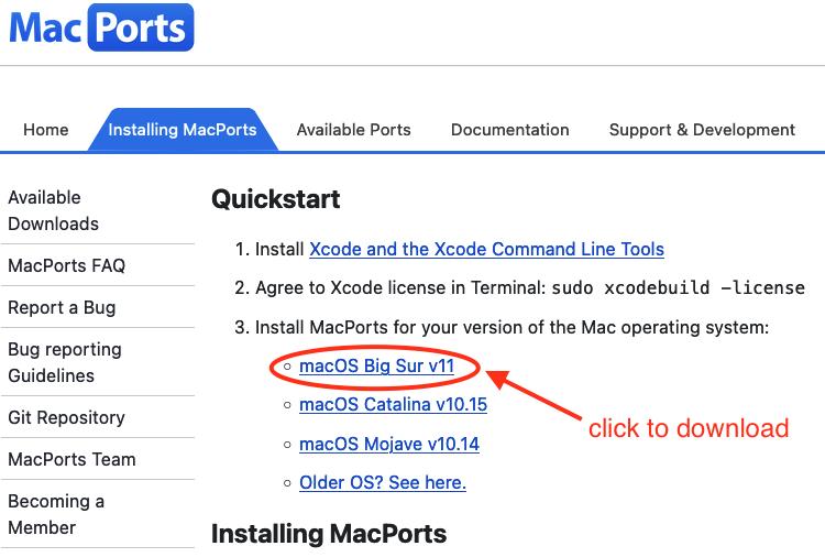 MacPorts download